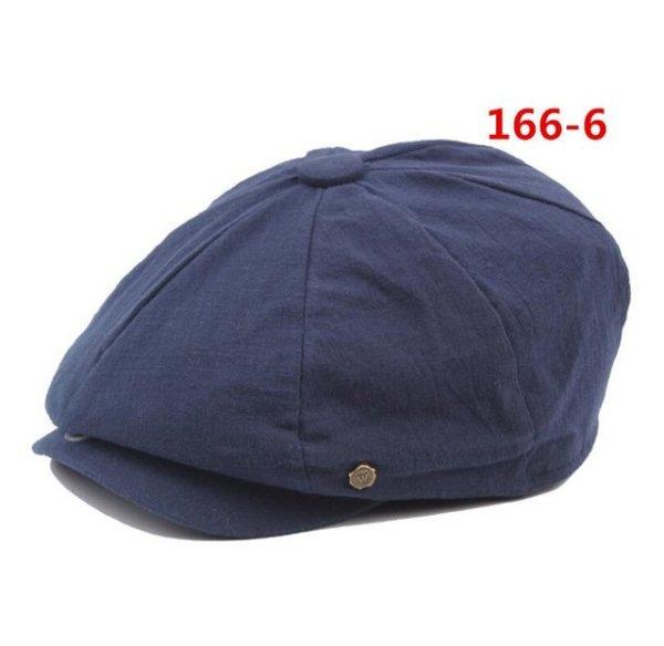 octagonal cap winter male British style retro linen painter hat solid color stitching fashion hat 24
