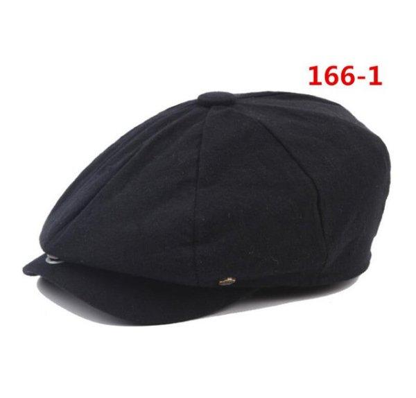 octagonal cap winter male British style retro linen painter hat solid color stitching fashion hat 14
