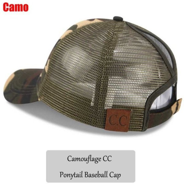 3408fef1f96 2018 CC Glitter Ponytail Baseball Cap Women Snapback Hat Summer Messy Bun  Mesh Hats Casual Adjustable Sport ...