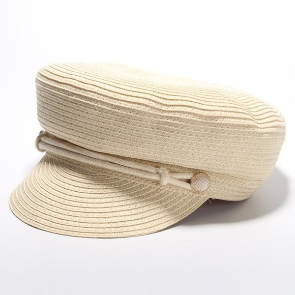 Cotton Yarn Solid Summer Hats For Women Newsboy Caps Fashion Elegant Ladies Beret Octagonal Cap Sunhat Gorras Female 2