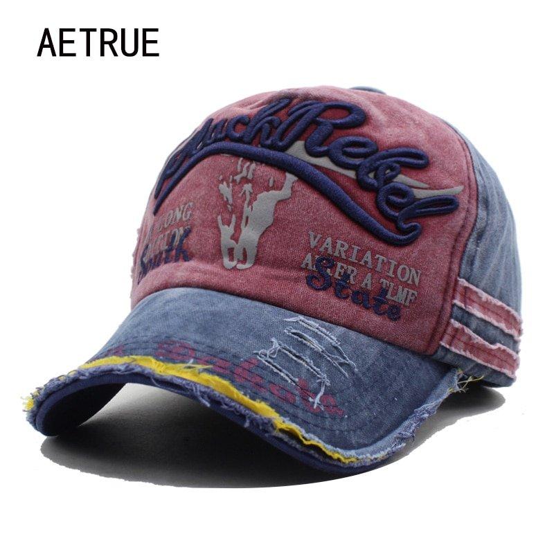 923455d9e7b AETRUE Brand Men Baseball Caps Dad Casquette Women Snapback Caps Bone Hats  For Men Fashion Vintage Hat Gorras Letter Cotton Cap