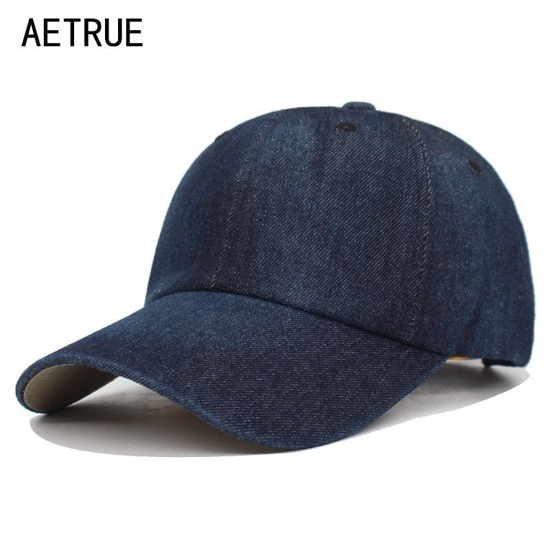 1fbd919bc2444b AETRUE Washed Jeans Baseball Cap Men Dad Snapback Hats Caps For ...