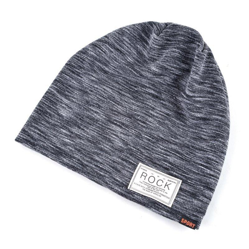234a5f8a629 Autumn Hip hop cap Winter beanies men hats Rock logo Casual Cap ...