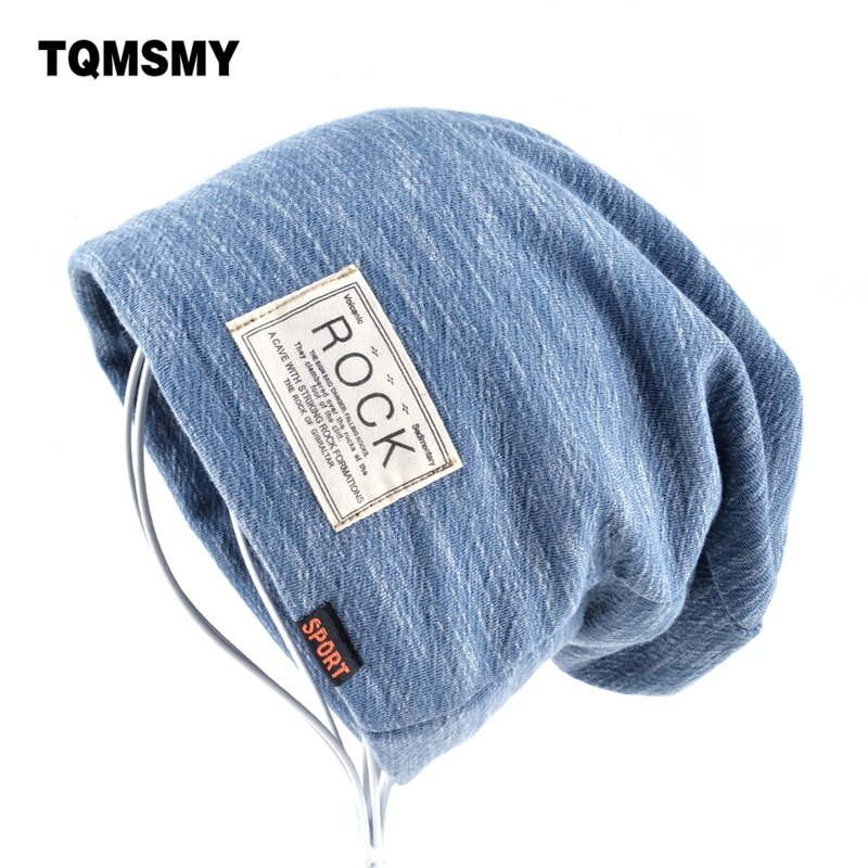 03643ca0ac5 Autumn Hip hop cap Winter beanies men hats Rock logo Casual Cap ...