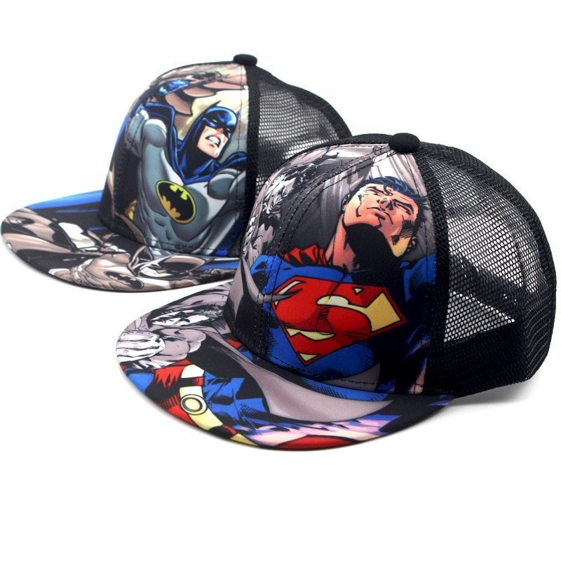Apparel Accessories Men's Baseball Caps Children Baseball Cap Cartoon Anime Super Hero Superman Batman Boy Girls Sport Snapback Hip Hop Hats Summer Sun Hat Adjustable