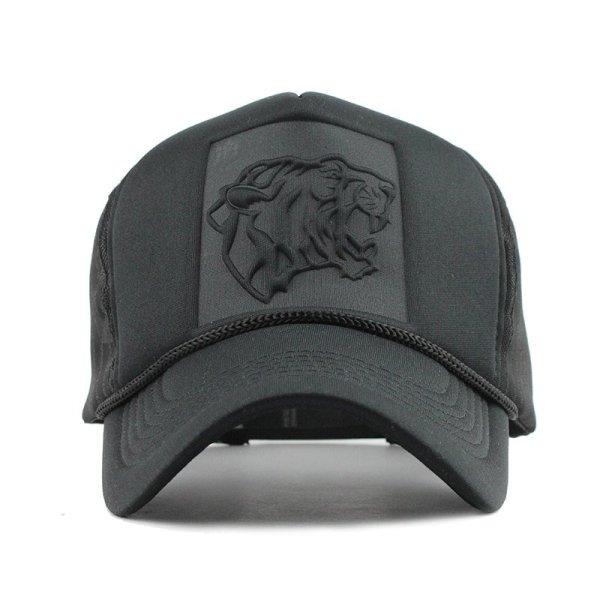 Hip Hop Black leopard Print Curved Baseball Caps Summer Mesh Snapback Hats For Women Men casquette Trucker Cap 2