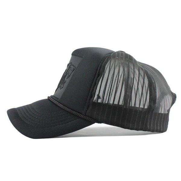 Hip Hop Black leopard Print Curved Baseball Caps Summer Mesh Snapback Hats For Women Men casquette Trucker Cap 3