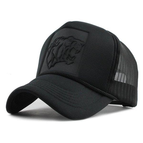Hip Hop Black leopard Print Curved Baseball Caps Summer Mesh Snapback Hats For Women Men casquette Trucker Cap 7