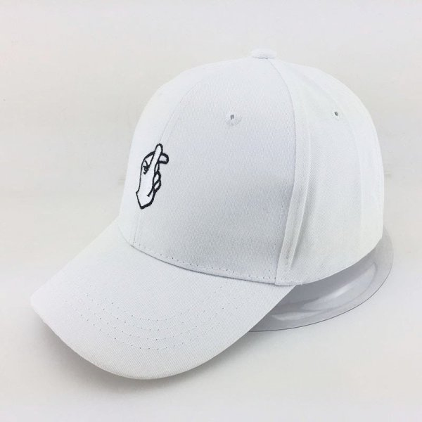 Love Gestures Finger Embroidery Golf Baseball Cap bone Men Women Snapback Caps Flipper Little Heart Love Sun Truck Hat gorras 8