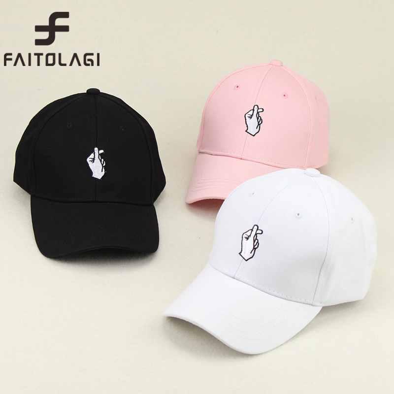 d4623f8a6cb Love Gestures Finger Embroidery Golf Baseball Cap bone Men Women Snapback  Caps ...
