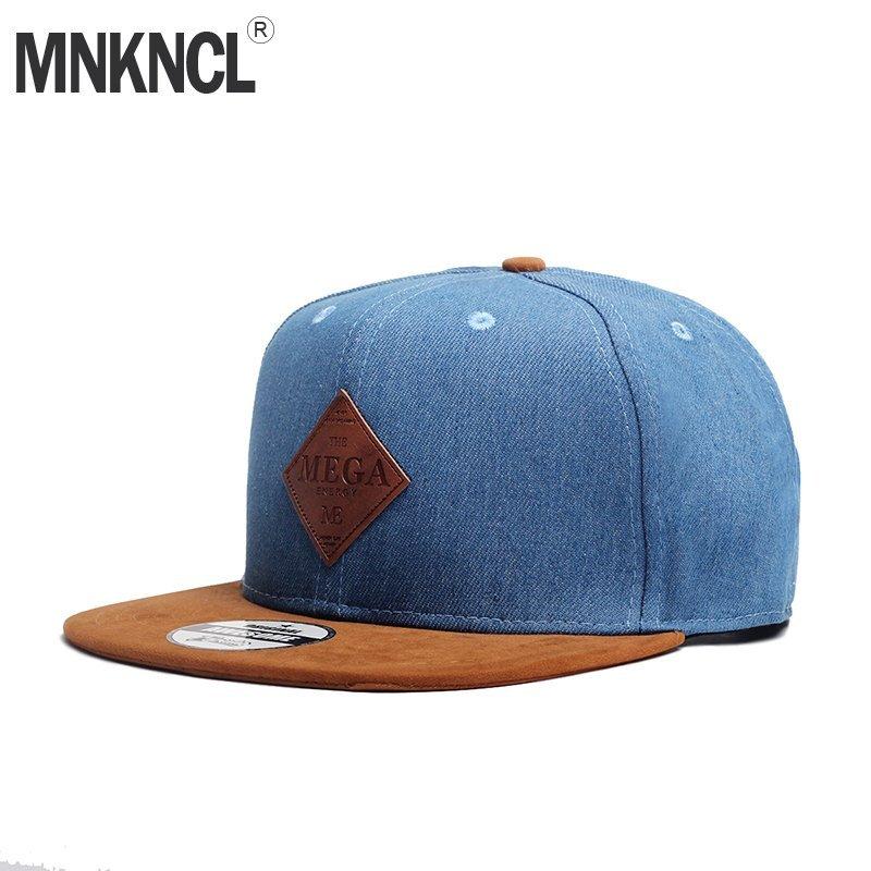 MNKNCL High Quality Snapback Cap MEGA Embroidery Brand Flat Brim Baseball  ... 3d5b8ba3be51