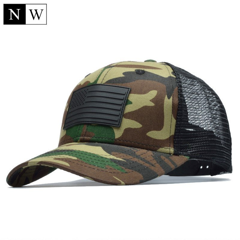 NORTHWOOD  Camo Mesh Baseball Cap Men Camouflage Bone Masculino ... 0925796f77d