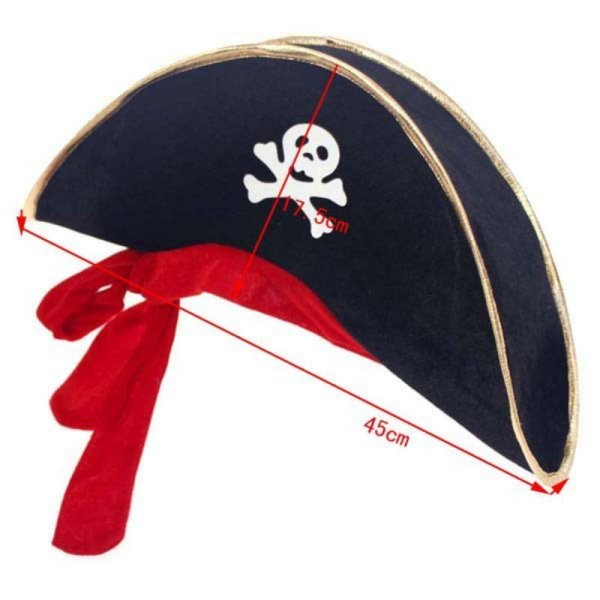 New Arrival Halloween Accessories Skull Hat Caribbean Pirate Hat Piracy Hats Corsair Cap Party Props Cosplay Costume Theater Toy 3