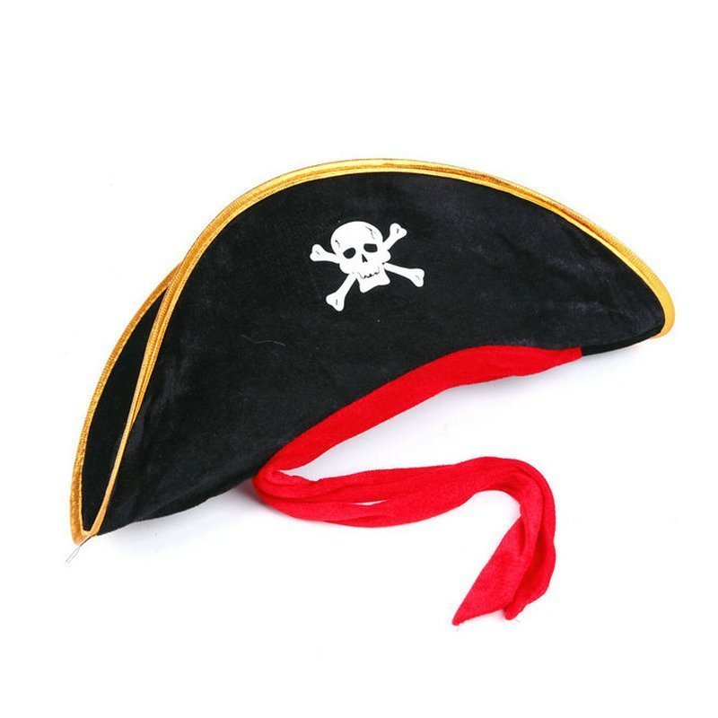 New Arrival Halloween Accessories Skull Hat Caribbean Pirate Hat Piracy  Hats Corsair Cap Party ... d2b08afdd43c