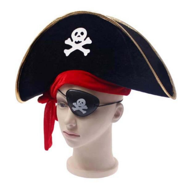 New Arrival Halloween Accessories Skull Hat Caribbean Pirate Hat Piracy Hats Corsair Cap Party Props Cosplay Costume Theater Toy 1