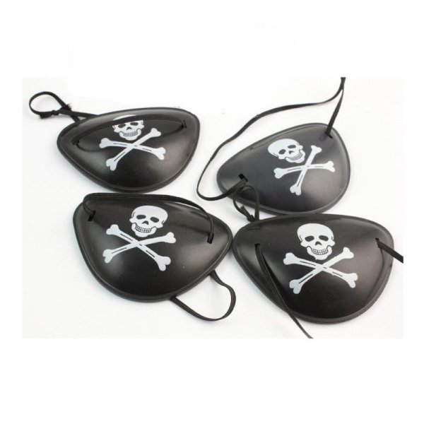 Pirate Cap Skull Print Pirate Captain Costume Cap Halloween Masquerade Party Cosplay Hat Prop 10