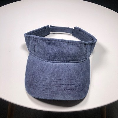 SUOGRY Washed Cotton Visor Running Cap Unisex Empty Top Hat Tennis ... c1821237e6a4