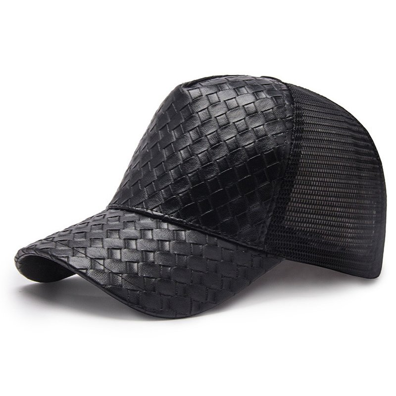 ... Summer Breathable Baseball Cap Men Women Black Cap Hip Hop Dad Hat  Snapback PU Leather Hat Casquette Adjustable. Sale! 🔍. capshop.store 636700422e9f