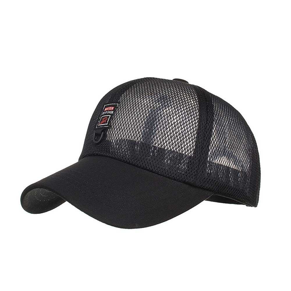 Fashion Men Women Baseball Cap Hat Mesh Flat Peak Rapper Hip Hop Sunhat Casual