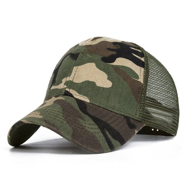 Snow Camo Baseball Caps Men Summer Mesh Cap Tactical Camouflage Hat For Men Women High Quality Bone Masculino Dad Hat Caps 2