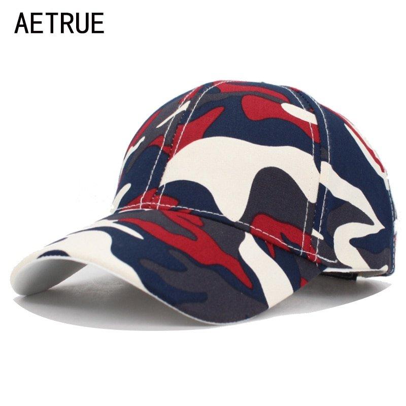 54389cac376 AETRUE Camo Baseball Cap Men Snapback Caps Women Camouflage Army ...