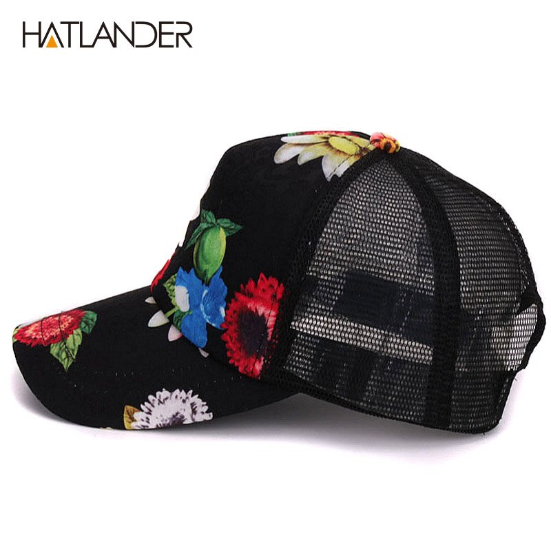 HATLANDER 2017 Flower baseball caps for women summer sun hats ... af5541320a9