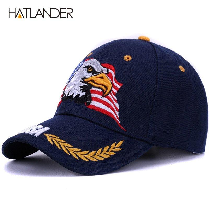 HATLANDER 2018 Spring summer baseball caps for men outdoor sun hat ... 3b6538c2f96