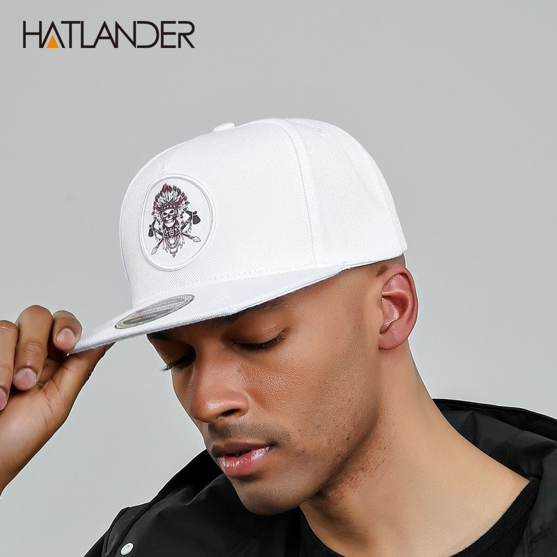 HATLANDER 5 panel white baseball caps men women sports hats bone ... 2831baa3658