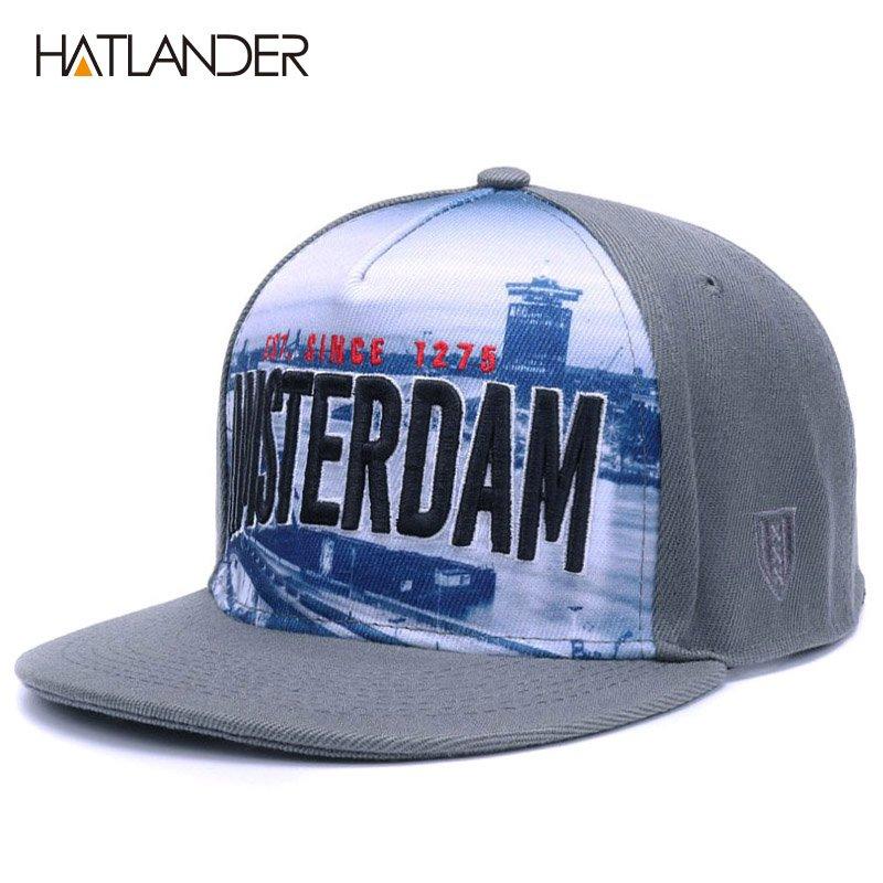 Women Men Unisex Adjustable Baseball Cap Mesh Snapback Letters Hip Hop Flat Hat