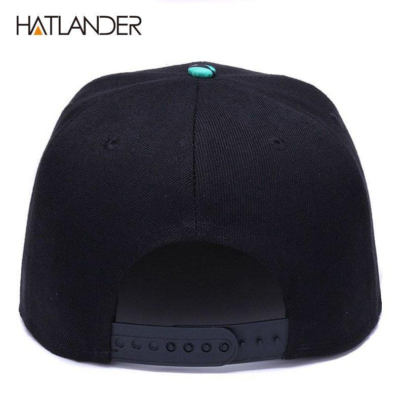 8a03c0e7322e2d HATLANDER]Brand Embroidery Retro baseball caps for men women bone ...