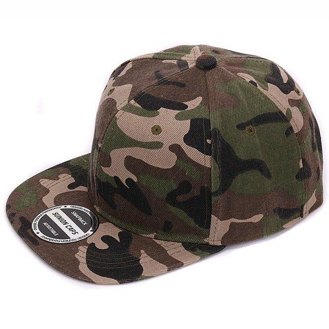 HATLANDER Camouflage snapback polyester cap blank flat camo baseball ... a00c2b858c5