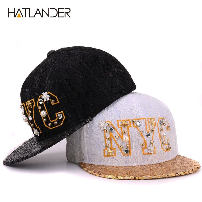 fedd282bafe ... baseball caps for women snapbacks feminimo flat brim hip hop cap lace  cotton summer sun hats. Sale! 🔍. https   capshop.store