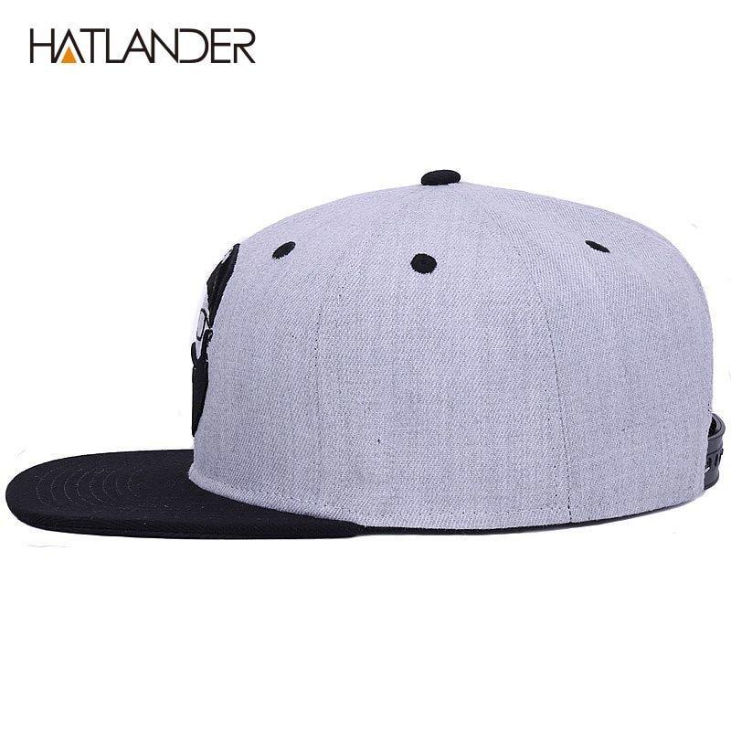 09a4e178fd5 HATLANDER Original grey cool hip hop cap men women hats vintage ...