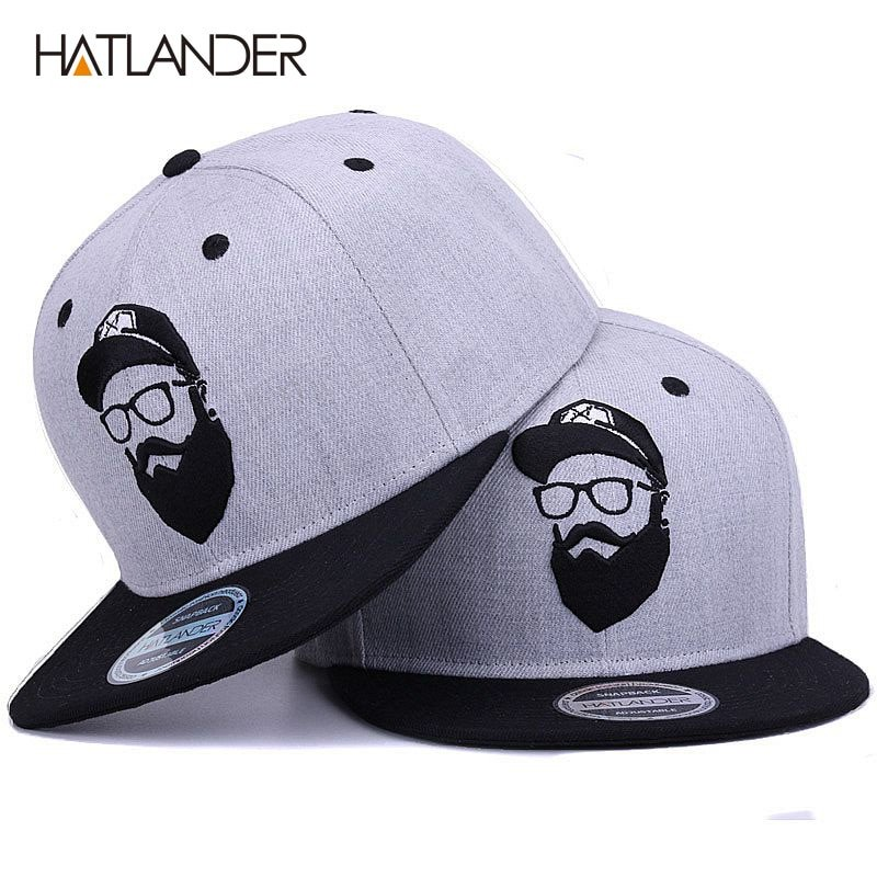 HATLANDER Original grey cool hip hop cap men women hats vintage ... 200b65924707