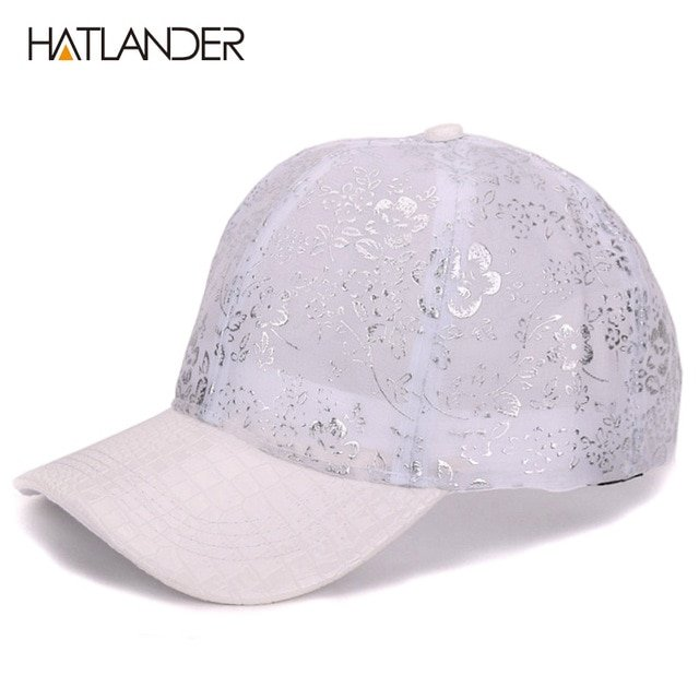 HATLANDER lady Lace floral mesh baseball caps girls snapbacks cap ... 00f58c8396a