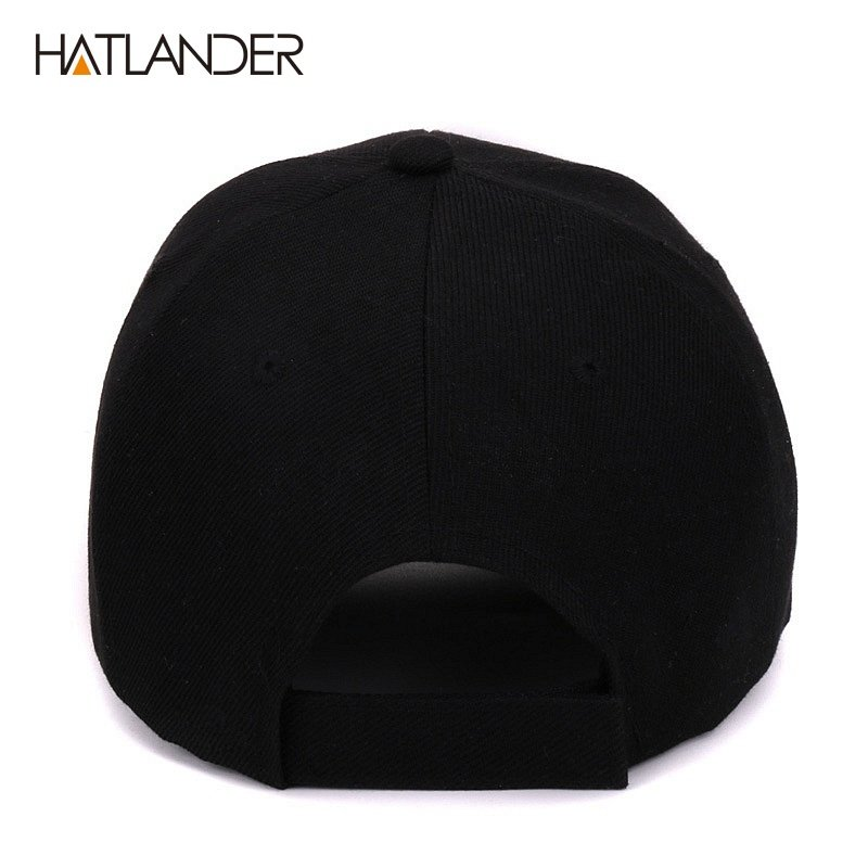 Hatlander New York black baseball caps Las Vegas adjustable sports ... d23a6615970