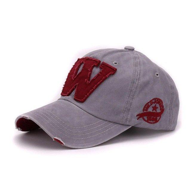 918abf0ab0b Hatlander cotton letter W Baseball Cap retro outdoor sports caps ...