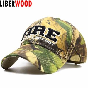 4c5e29a606c99 LIBERWOOD FIRE DEPARTMENT FIRE FIRST IN LAST OUT CAP HAT Fire Rescue Jungle  Woodland Color Men Baseball caps camo Embroidery