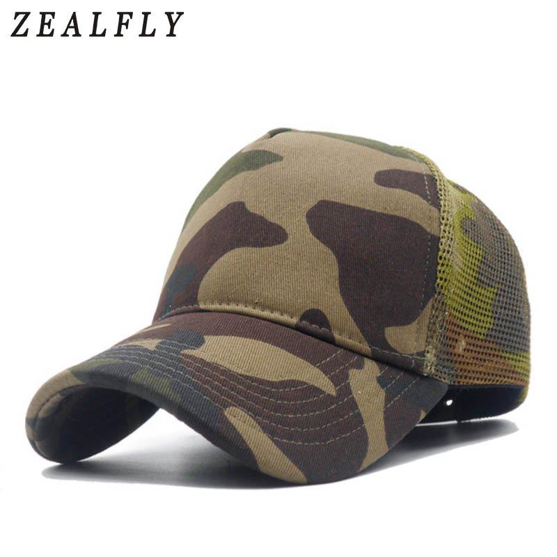NEW Men Camo Mesh Baseball Caps for Spring Summer Outdoor Jungle Camouflage  Net Base Ball Snpaback Hats Wholesale Mens Hat - Cap shop  ca4f867416d