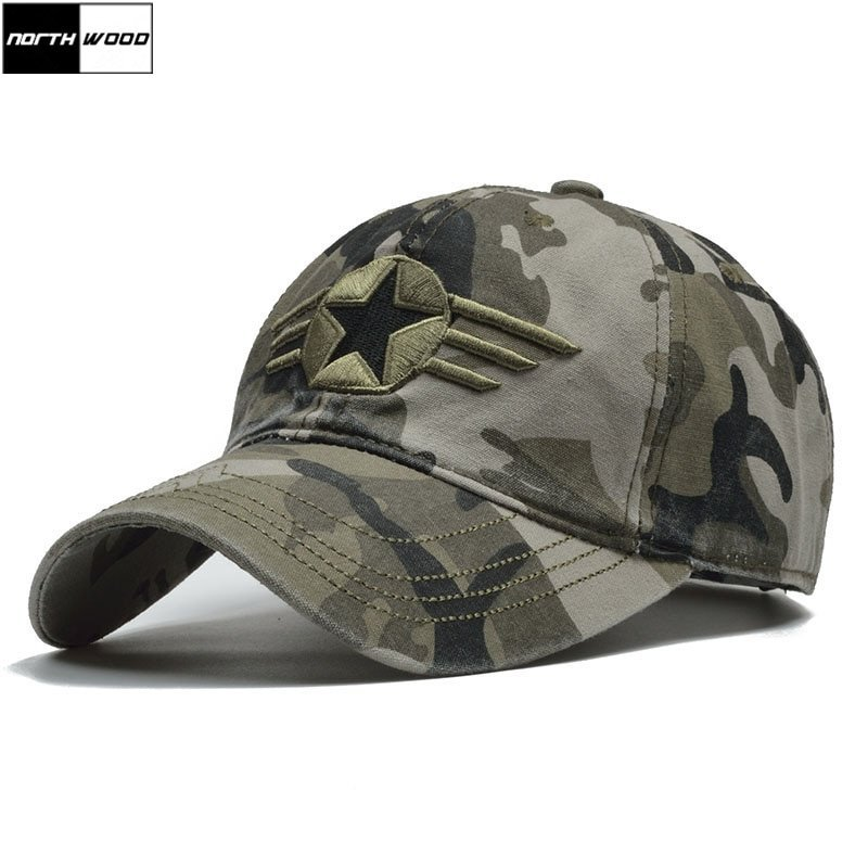 cba8794028f07d NORTHWOOD] 2018 Camo US Army Cap Men Army Baseball Cap Dad Hat For ...