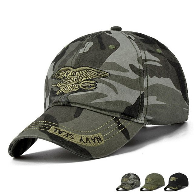 New Men Navy Seal Cap Top Quality Army green Snapback Caps Hunting ... 69fb5d2374e