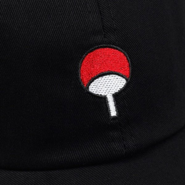 100% Cotton Japanese Anime Naruto Dad Hat Uchiha Family Logo Embroidery Baseball Caps Black Snapback Hat Hip Hop for Women Men 10