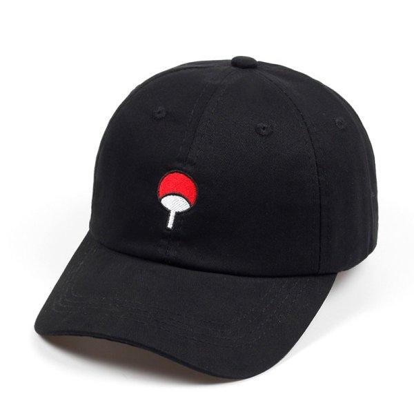 100% Cotton Japanese Anime Naruto Dad Hat Uchiha Family Logo Embroidery Baseball Caps Black Snapback Hat Hip Hop for Women Men 2