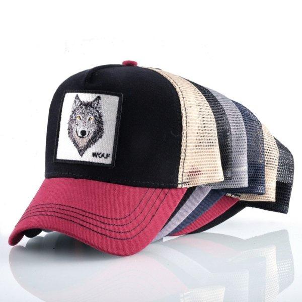 8 Kinds of embroidery animal Baseball Caps men Breathable Mesh Snapback caps Unisex sun hat for women bone Casquette Hip Hop cap 2020 12