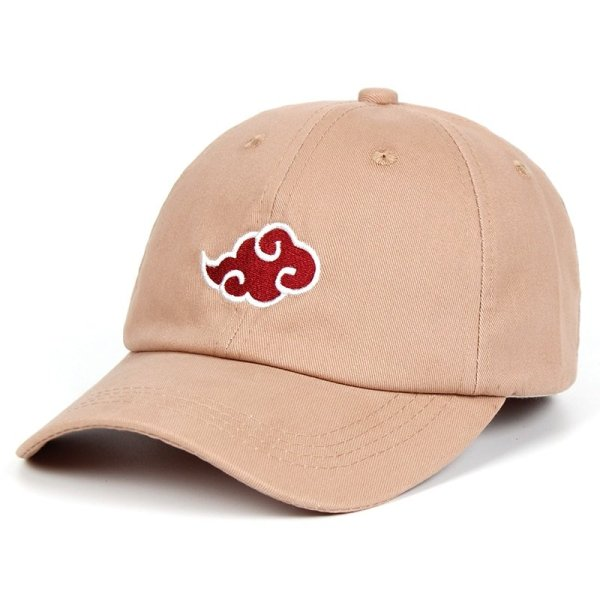 Anime Lovers Akatsuki Logo Dad Hat Uchiha Family Logo 100% Cotton Embroidery Baseball Caps Black Snapback Hat Red Cloud 8