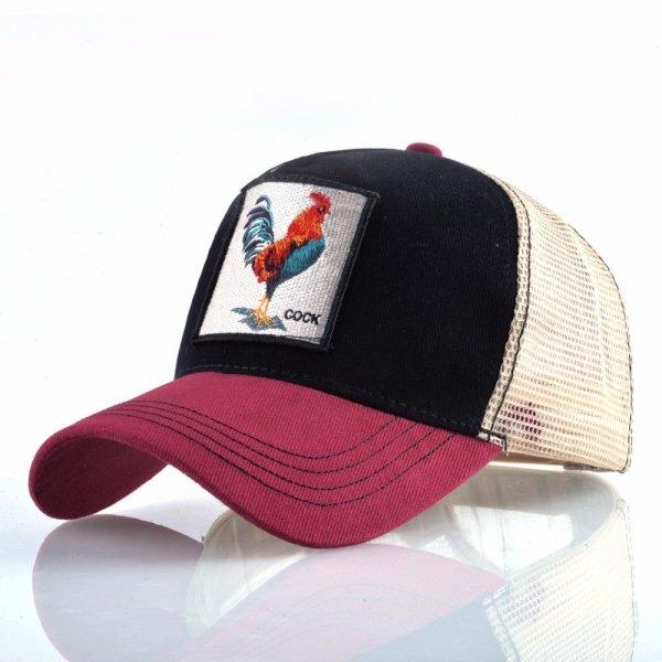 Cock Embroidery Baseball Cap Men Women Snapback Caps Breathable Mesh Hip Hop Hats Unisex Casual Eat Chicken Bone Casquette 4