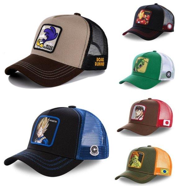 2020 DRAGON BALL MARVEL Snapback Cap Cotton Baseball Cap Men Women Hip Hop Dad Mesh Hat Trucker Dropshipping 1