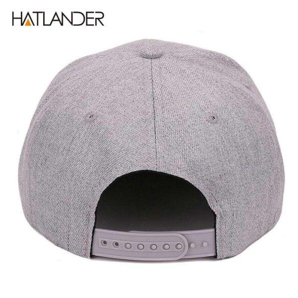 [HATLANDER]Maple solid cotton snapback caps women's flat brim hip hop cap outdoor baseball cap bone gorras mens caps and hats 5
