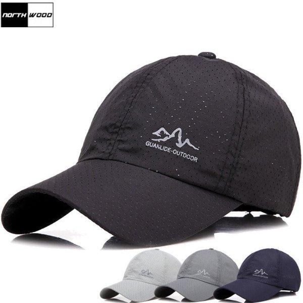 [NORTHWOOD] 2019 Fashion Summer Cap Solid Baseball Cap Men Branded Snapback Hats For Women Outdoor Ultra-Thin Dad Hat 2