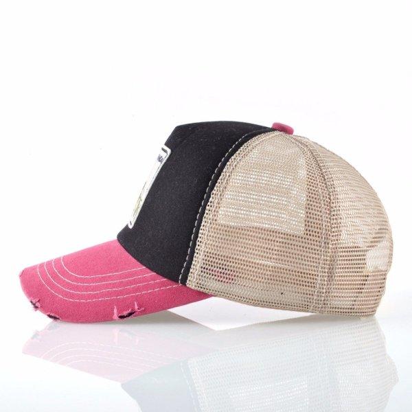Unisex sun hats for men Hip Hop Hat Breathable Mesh Baseball Caps Women Embroidery panda Snapback caps Summer Gorras 6